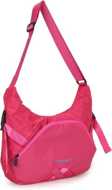 Fastrack Women Casual Pink Pu Sling Bag
