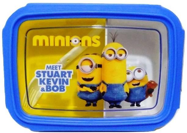 "Royle Katoch MINIONS "" MEET STUART KEVIN & BOB"" BPA FREE AIR TIGHT 2 Containers Lunch Box"