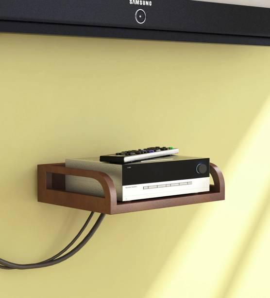 47c2ebab579 Gorevizon Brown Engineered Wood Set Top Box Holder Wooden Wall Shelf