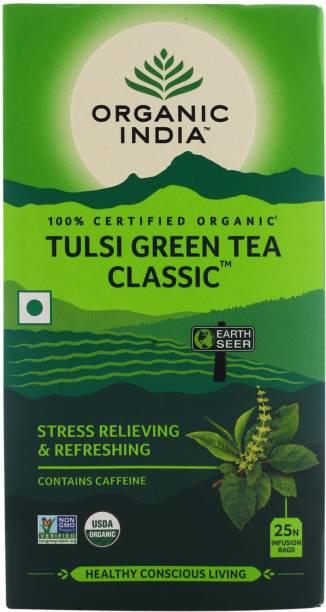 ORGANIC INDIA Tulsi Green Tea Bags Box