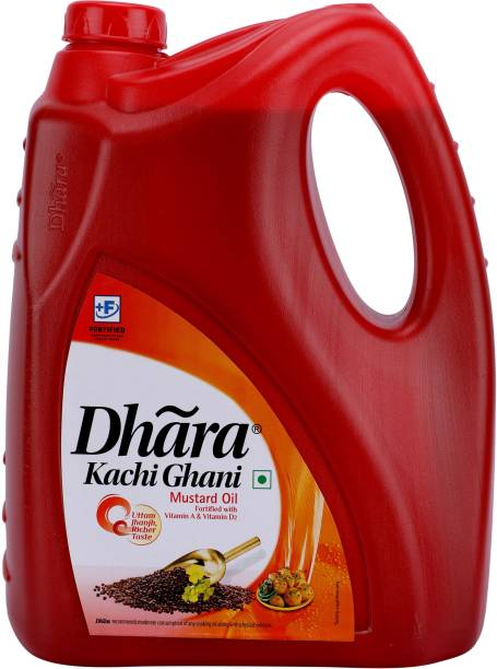 Dhara Kachi Ghani Mustard Oil Mustard Oil Can