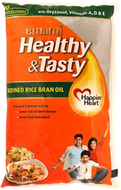 EMAMI Healthy & Tasty Refined Rice Bran Oil Pouch
