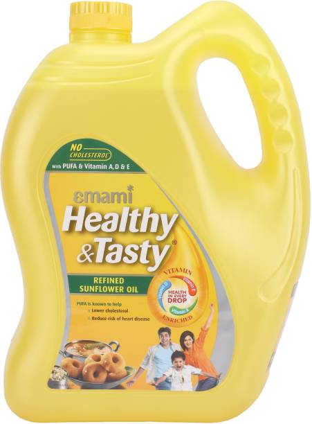 EMAMI Healthy & Tasty Refined Sunflower Oil Can