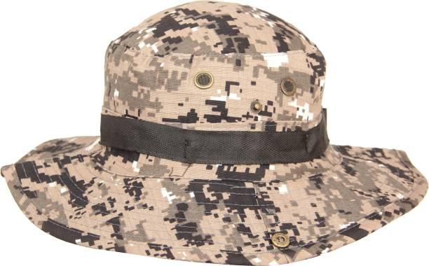 2e8f03de624 FabSeasons Foldable Camouflage Print Polyester Bucket Hat   Cap Cap