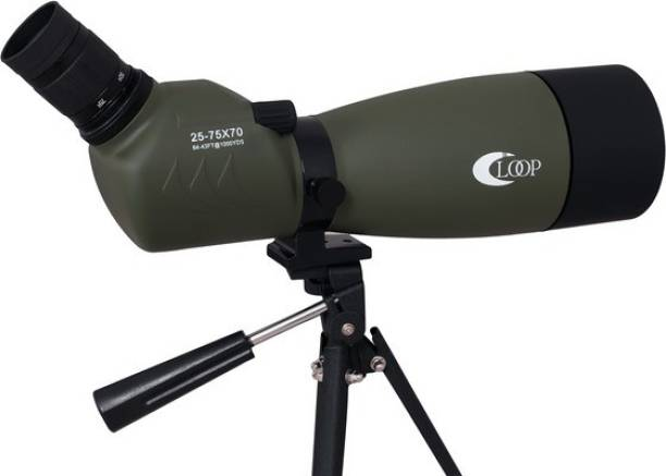 LOOP 25-75x70 Outdoor Shooting Hunting Waterproof Spotting Scopes Bird Watching Scope Telescopes Bak4 Prisms FMC with Tripod and Phone Adapter Reflecting Telescope