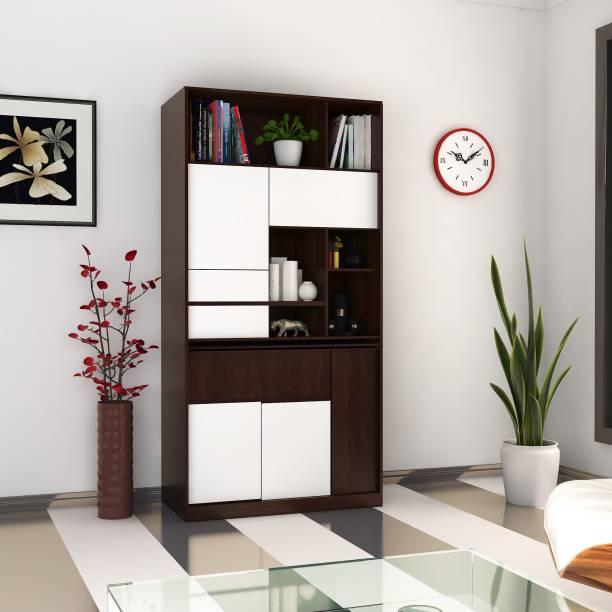 Hometown Walter Engineered Wood Semi-Open Book Shelf