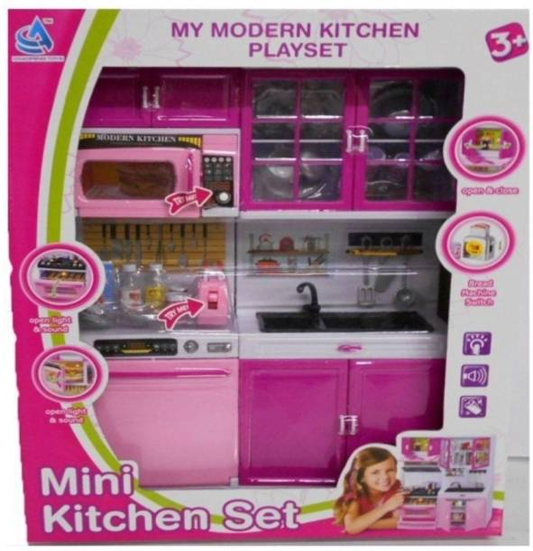 Sajani Attractive Modern Kitchen Playset With Light And Real Sound Effect 5615