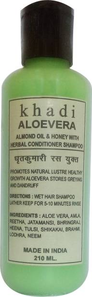 Khadi Herbal alovera almond oil & honey with conditioner shampoo 210ml