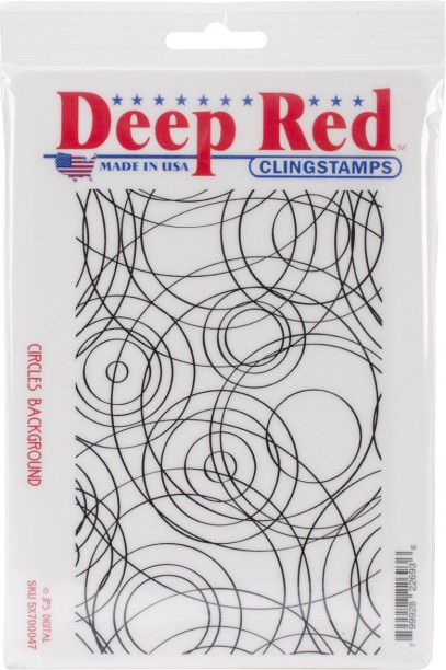 3 by 1.25 Deep Red Stamps Chameleon Cling Stamp Deep Red
