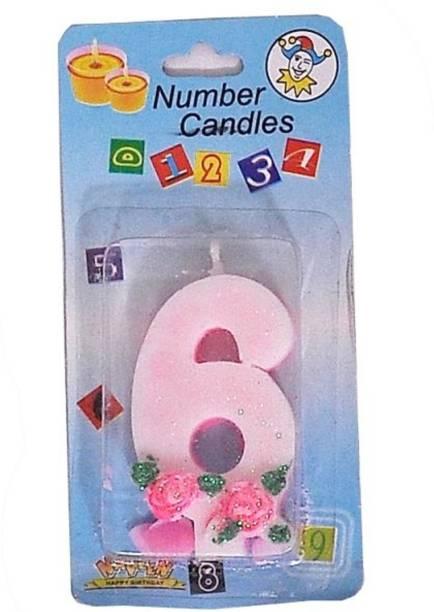 Indigo Creatives Year 6 Birthday Candle