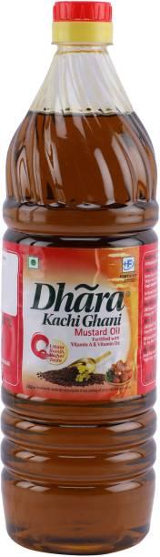 Dhara Kachi Ghani Mustard Oil Mustard Oil Plastic Bottle