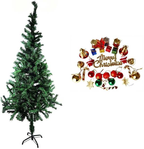 Shop Online Christmas 4ft Tree with 24 Pieces Decoration Hanging Ornaments Pack of 25