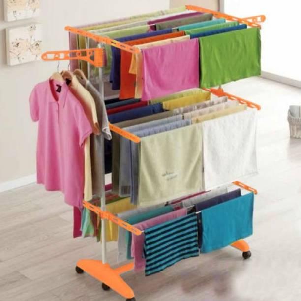 Easy Steel Floor Cloth Dryer Stand 18