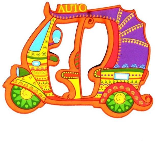 7060d6cc5c3 Skywalk India Souvenir Wooden Fridge Magnet - Auto Rickshaw Delhi,perfect  souvenir for gifting Fridge