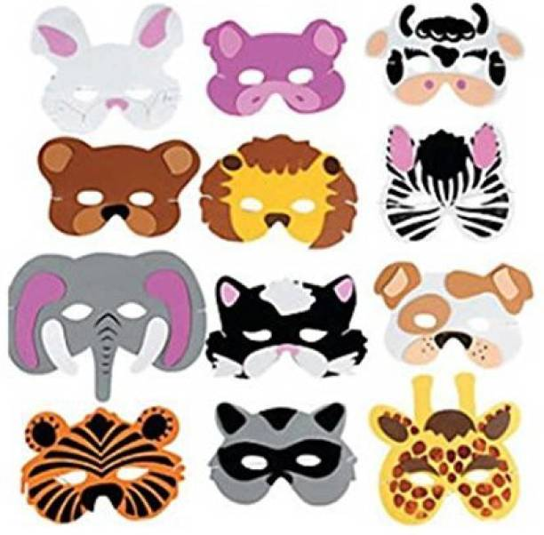 Party Propz MASK PACK OF 10/JUNGLE PARTY DECORATION/JUNGLE PARTY ACCESSORIES/JUNGLE PARTY SUPPLIES Party Mask