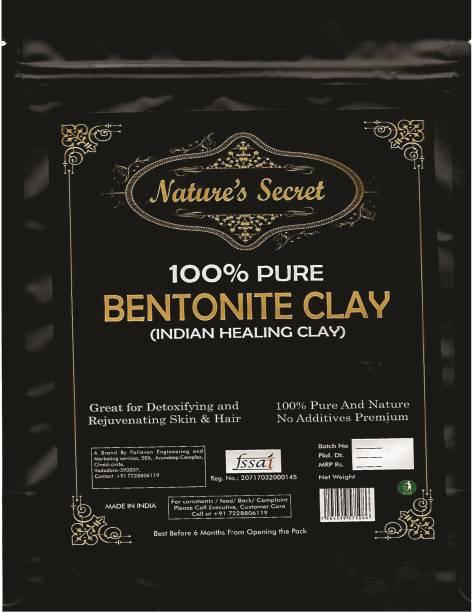 Nature's Secret Natures Secret Bentonite Clay Powder Organic. Use for Clay Mask Detox Etc. Healing Detoxifying Useful on Oily Skin. Cosmetic-grade. Face & Body Detox. Supports Eye Health