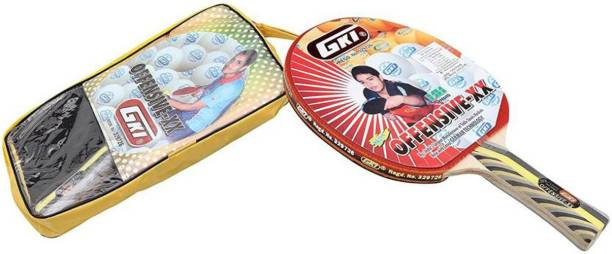 a5ba9a32d0 GKI Offensive XX in New Computerised Printed Cover Multicolor Table Tennis  Racquet