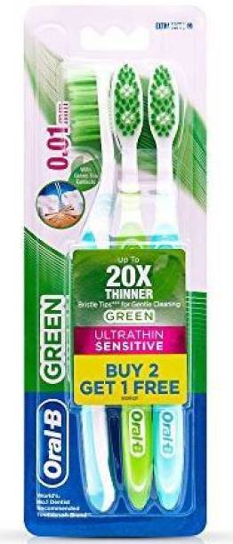 Oral-B Ultrathin Sensitive Green Extra Soft Toothbrush