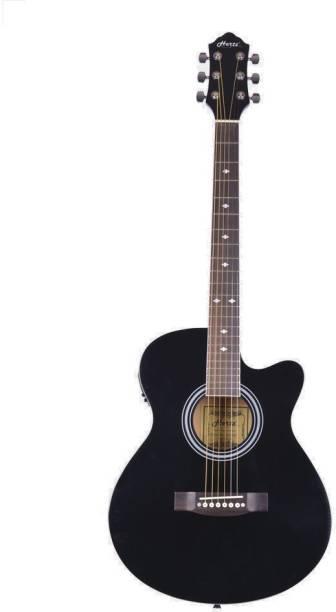 Hertz HZA-4000 EQ (Black) Semi-acoustic Guitar Linden Wood Rosewood