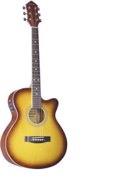 Hertz HZA-4000 EQ (SB) Semi-acoustic Guitar Linden Wood Rosewood