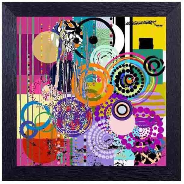 Modern Art Circular Pattern Photographic Paper