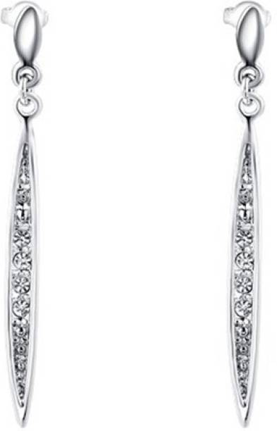Silver Shoppee Silver Shoppee 'Darling' Crystal Sterling Silver Dangle Earrings for Girls and Women