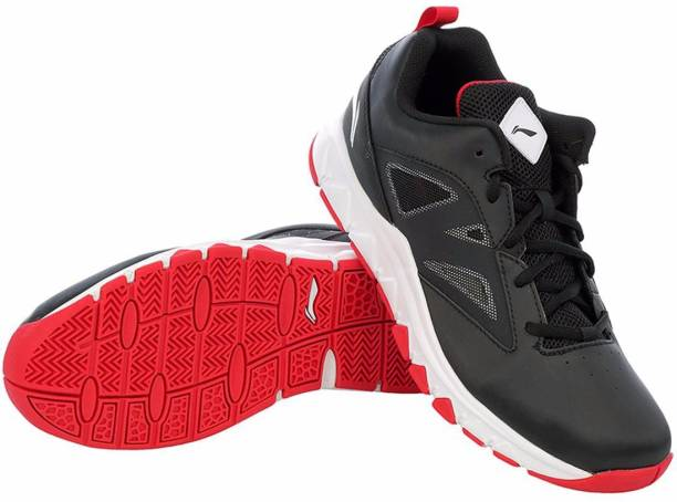 7324b0a78a98 Li-Ning On Court ABPJ045-2 Black Red Basketball Shoes For Men