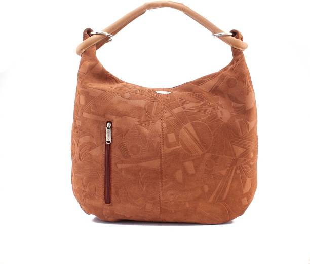 Lasalle Women Casual Tan Genuine Leather Hand Held Bag