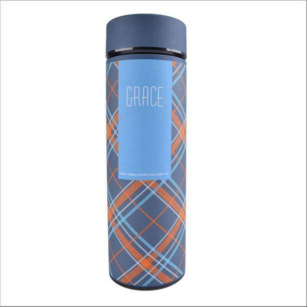 STYLE HOMEZ Double Wall Vacuum Flask Insulated Thermos Travel Water Bottle 480 ml - Stainless Steel Infuser with Strainer - (GRACE) 480 ml Flask