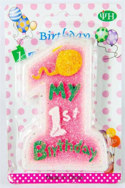 Pari Collection MY FIRST BIRTHDAY CANDLE PACK OF 1 Candle