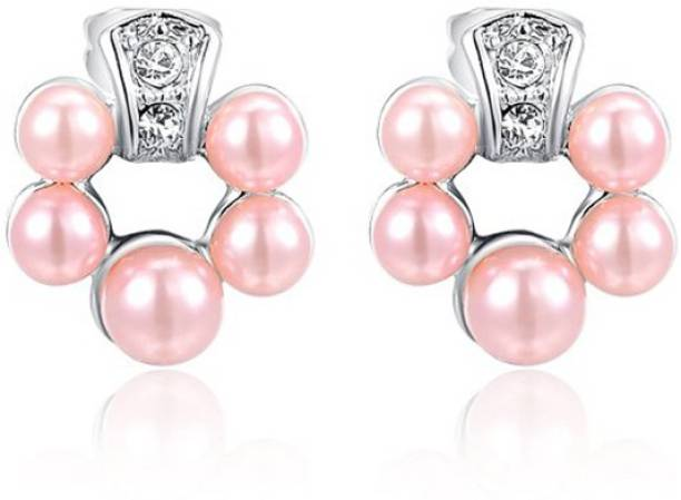 db1fb951d Silver Shoppee Silver Shoppee 'Gorgeous' Crystal Sterling Silver Stud  Earrings for Baby Girls,
