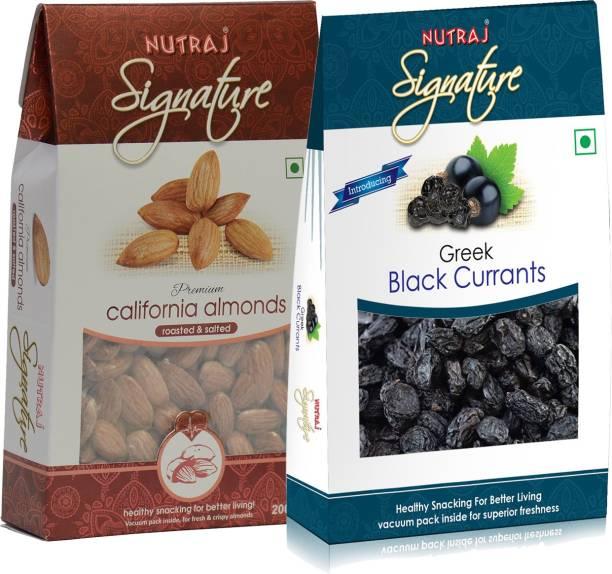 Nutraj Super Saver Pack 300g (Roasted Almonds+Black Currant) Assorted Fruits & Nuts, Almonds