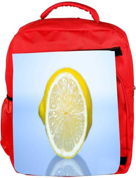 e2b94b8c00d0 Snoogg Eco Friendly Canvas Lemon Designer Backpack Rucksack School Travel  Unisex Casual Canvas Bag Bookbag Satchel