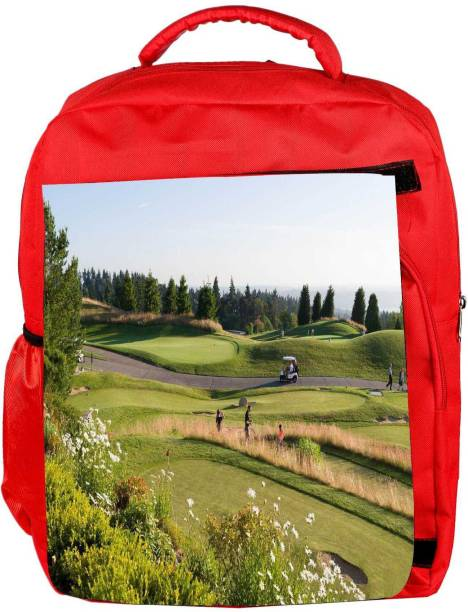 349f5c83fb15 Snoogg Eco Friendly Canvas Abstract Golf Players Designer Backpack Rucksack  School Travel Unisex Casual Canvas Bag