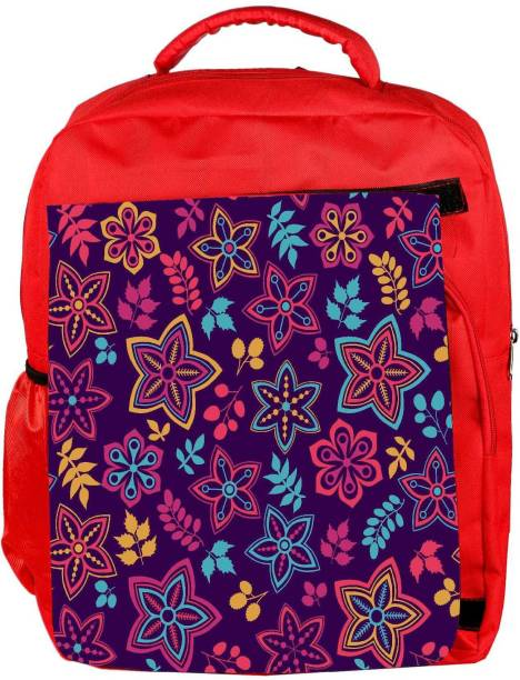 bef75be2984 Snoogg Eco Friendly Canvas Neon Flowers Purple Pattern Designer Backpack  Rucksack School Travel Unisex Casual Canvas