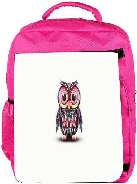 67dc28b0e78f Snoogg Eco Friendly Canvas Cute Owl Painting Wide Designer Backpack  Rucksack School Travel Unisex Casual Canvas