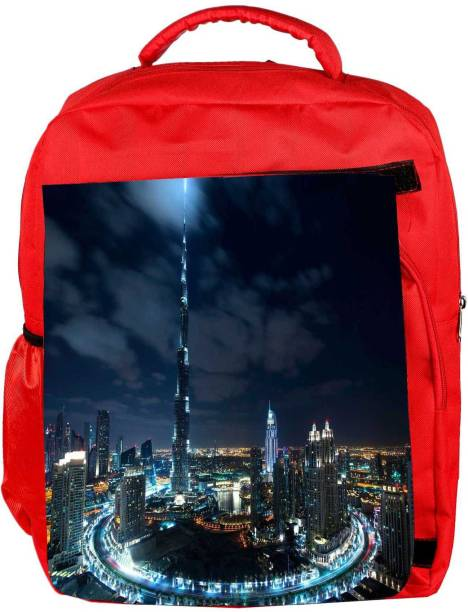 Snoogg Eco Friendly Canvas Winter In Dubai Designer Backpack Rucksack  School Travel Unisex Casual Canvas Bag 57e5b2c8a58c0