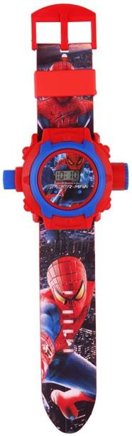 Vente Spider Man Projector Digital Watch With 24 Images for Kids
