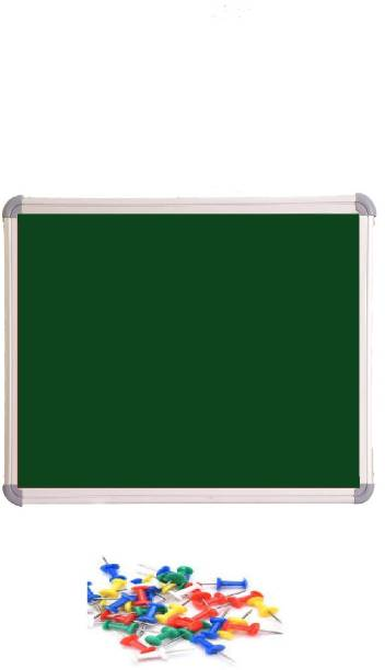 Action World 1.5x1.5 feet Green Pin up Board Notice Board