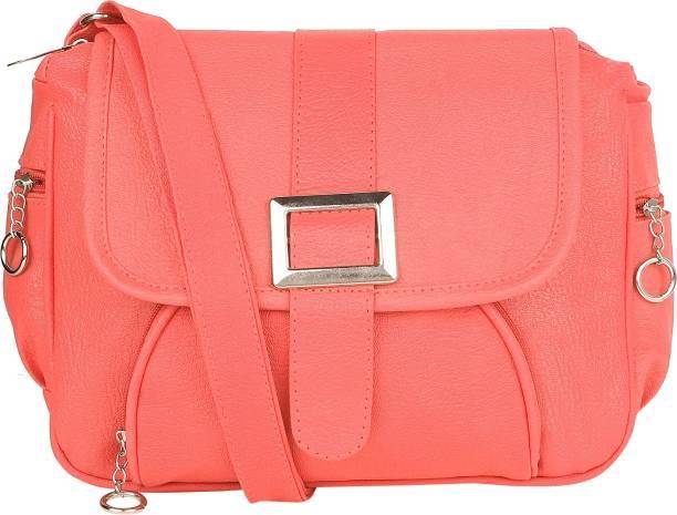 SAHAL Women Casual Pink PU Sling Bag