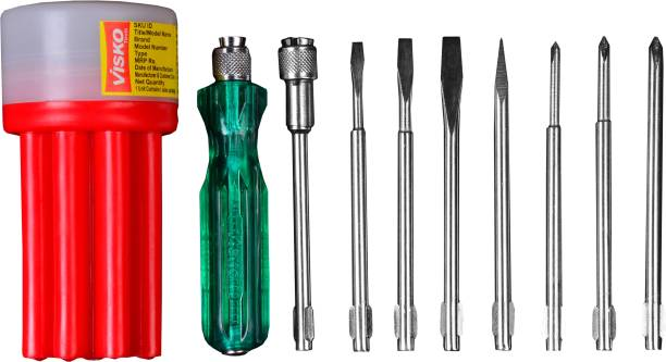 VISKO 111-Red Combination Screwdriver Set