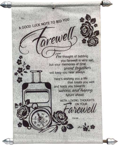 Natali Traders Farewell Scroll Card - Greeting Card