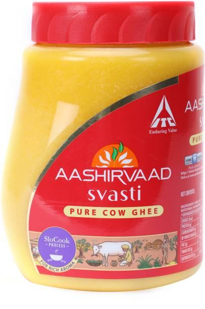 AASHIRVAAD Svasti Pure Cow Ghee 1 L Plastic Bottle