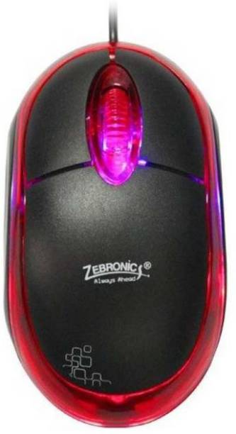 Vsquare neon black and red Wired Optical Mouse Wired Optical  Gaming Mouse