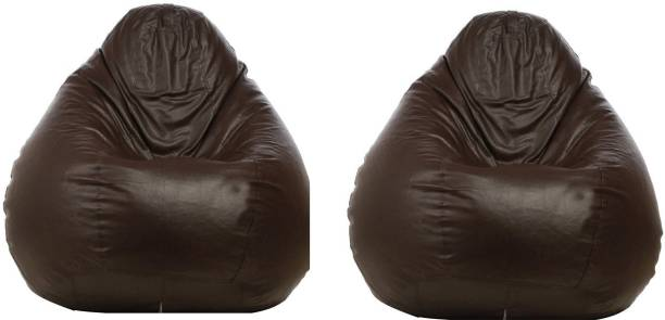 Furniture Humble Brown And Black Bean Bag Without Beans Xxxl Leatherette Chair Cover Home & Garden
