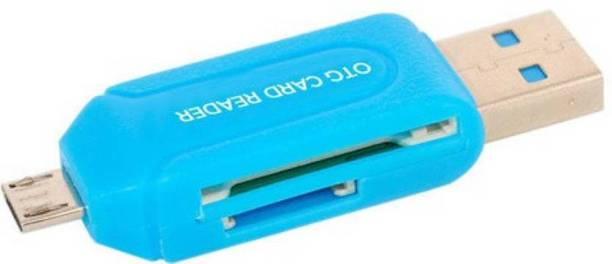 Apro OTG Micro SD+TF Card Reader (Multicolor) Card Reader