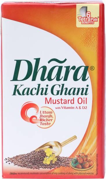 Dhara Kachi Ghani Mustard Oil Tetrapack