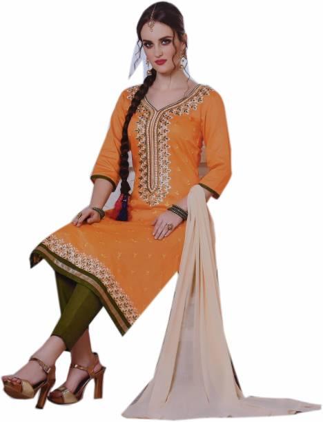 acaa341ce27 JBS SUCHI FASHION Cotton Silk Blend Embroidered Salwar Suit Material