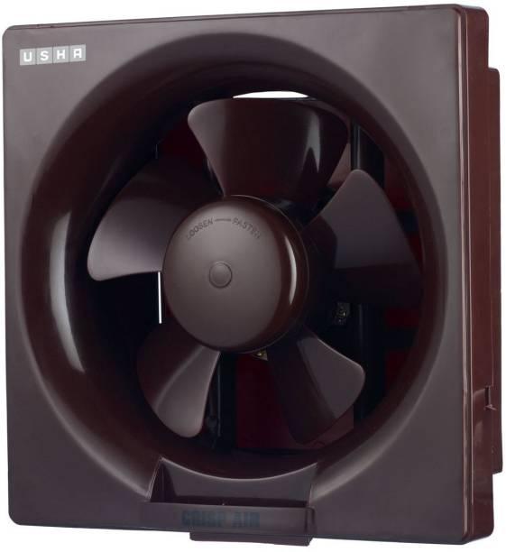 USHA Crisp Air 200mm Exhaust Fan (Black) 5 Blade Exhaust Fan