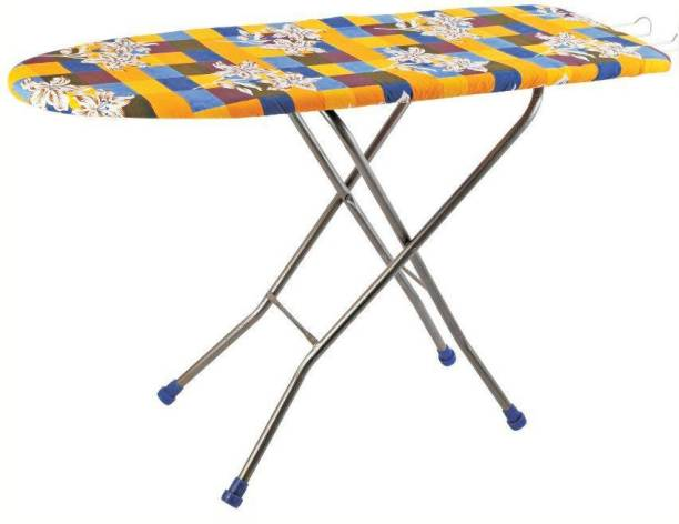 Flipzon Wooden Self Standing Ironing Board With Folding Feature Heavy Duty Multi Color